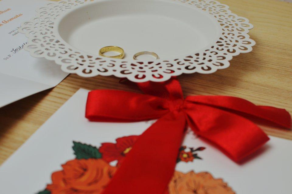 Zaproszenie na ślub - folk