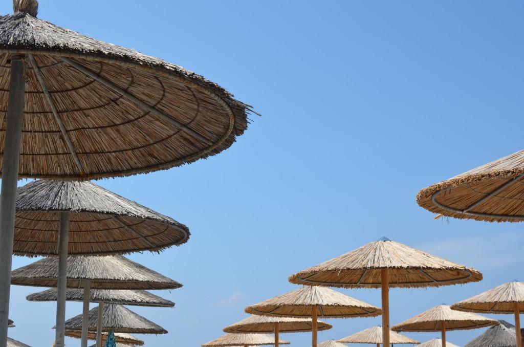 Parasolki na plaży