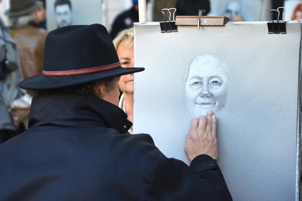 Artyści na placu Montrmatre