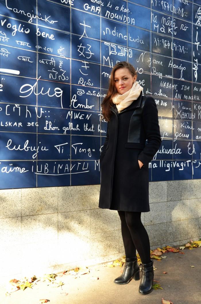 Paryż - napisy kocham Cię