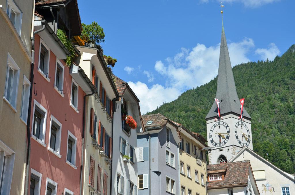 Arcas, widok na wieżę kościoła św. Marcina