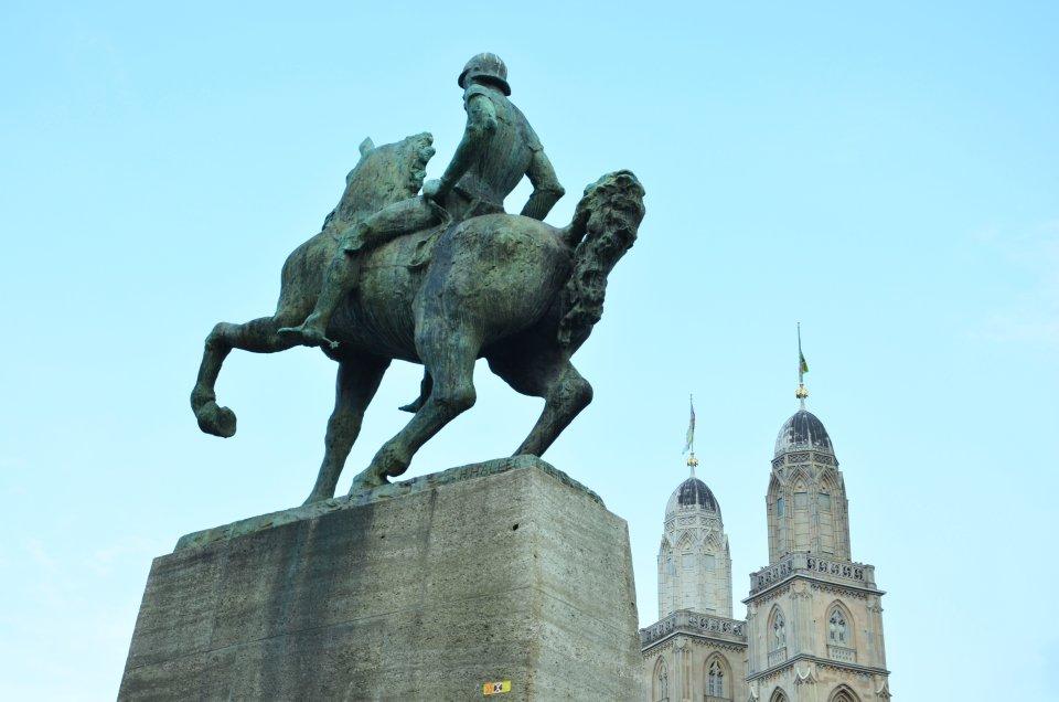 Pomnik Hansa Waldmanna w Zurychu (fot. M. Armata)