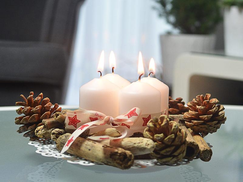 Świecznik adwentowy - świąteczne DIY #1