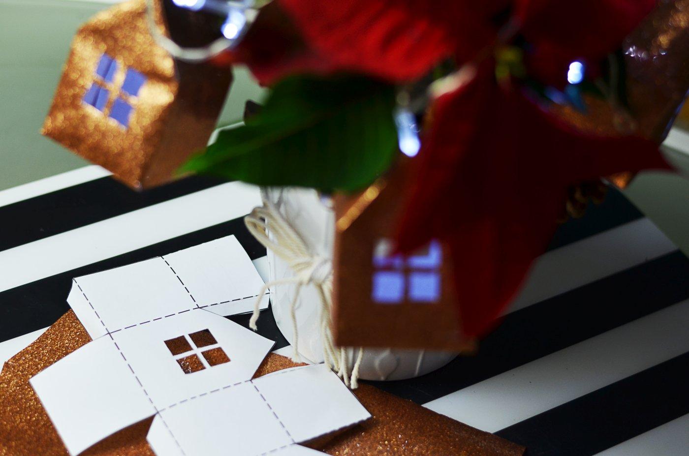 Szablon świątecznych domków