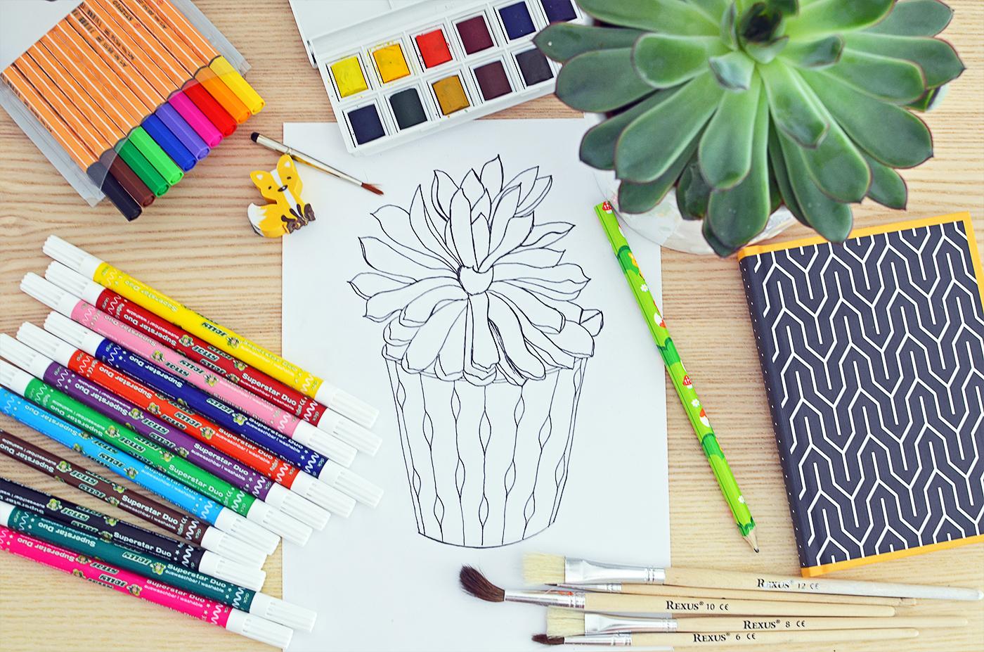 Doodle. Jak rysować sukulenty?