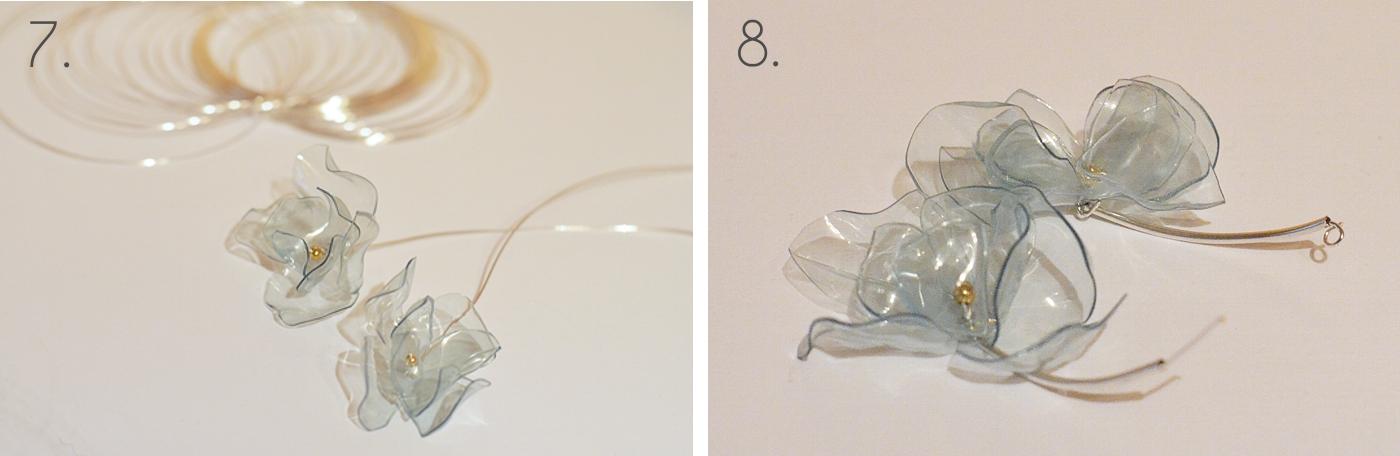 Kolczyki z plastikowej butelki - ekodizajn, recykling
