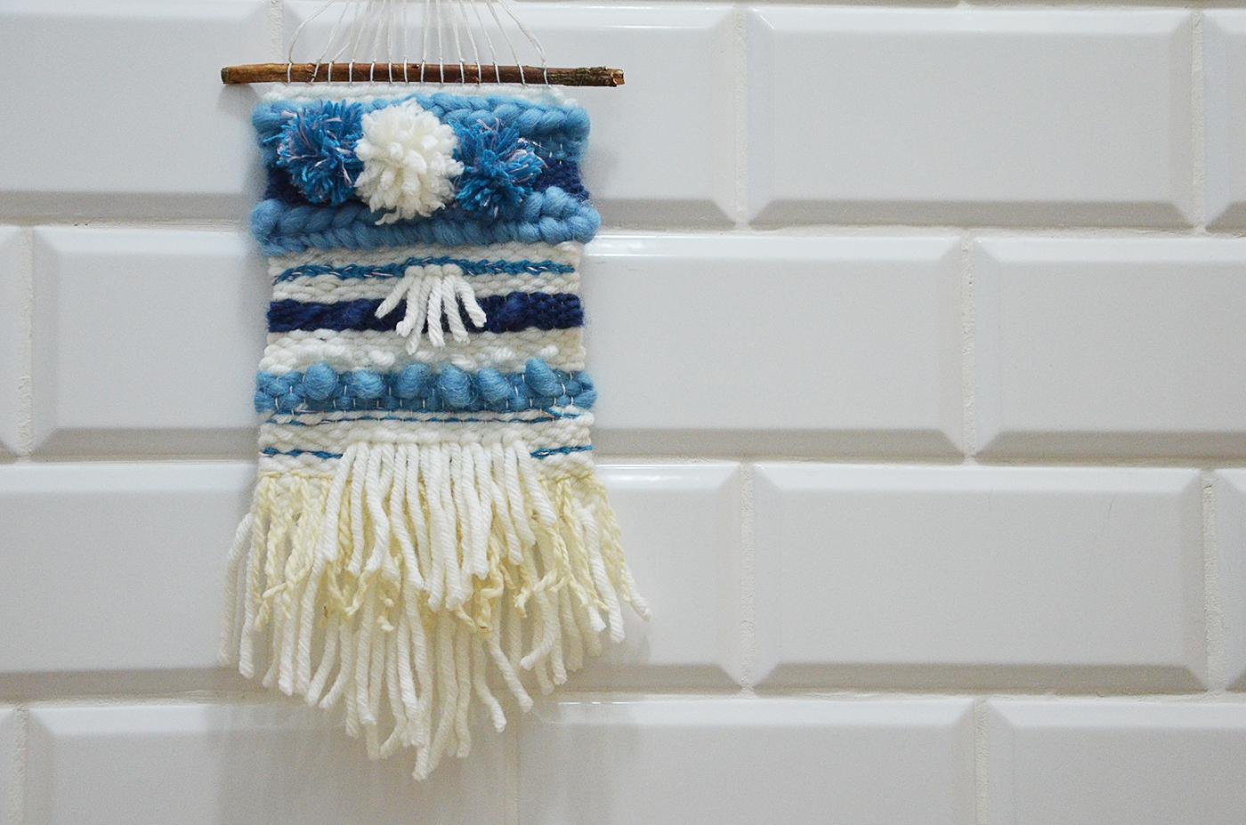 Tkana makatka DIY - weaving loom