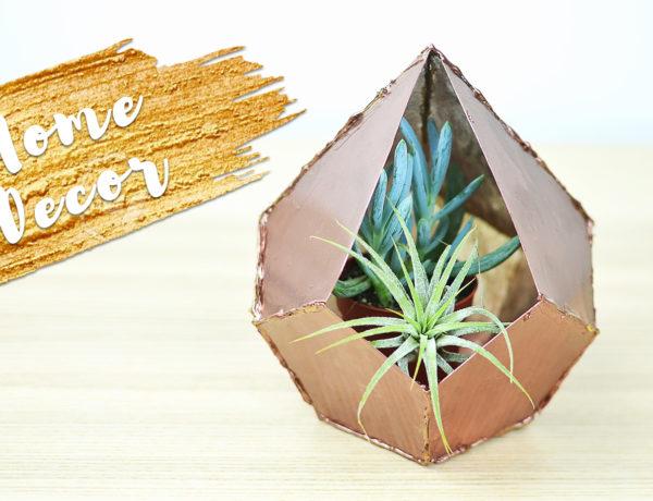 Geometryczna doniczka na sukulenty DIY