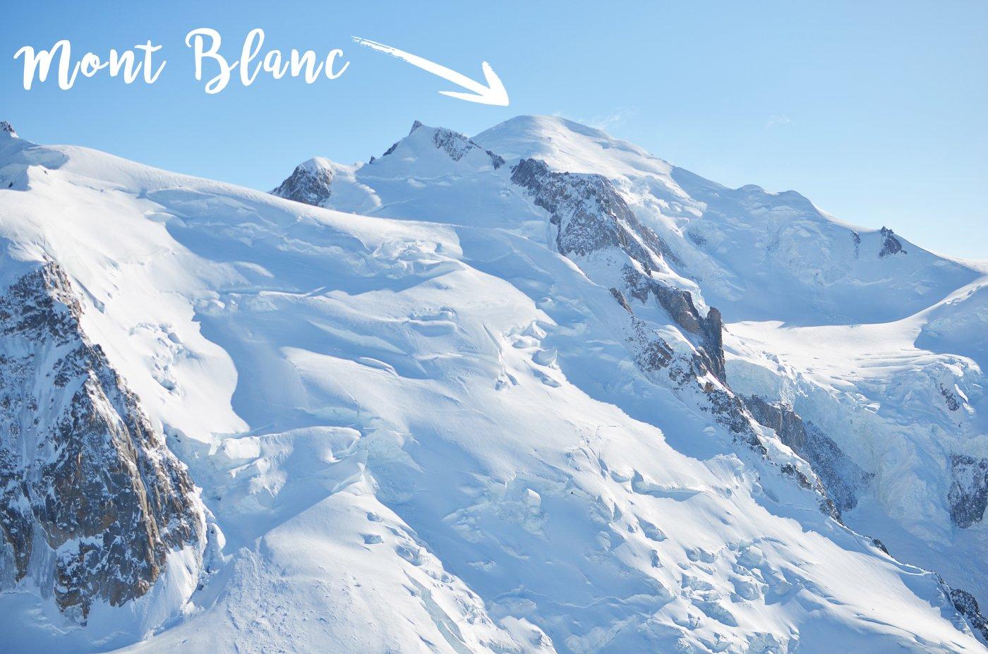Chamonix Mont Blanc - widok z Aiguille du Midi
