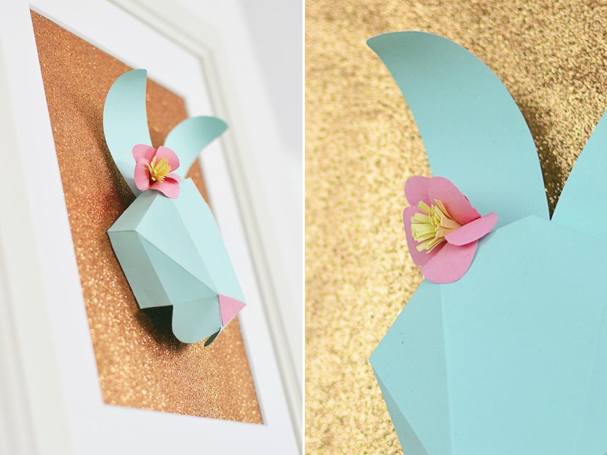 Zajączek z papieru - wielkanocne DIY