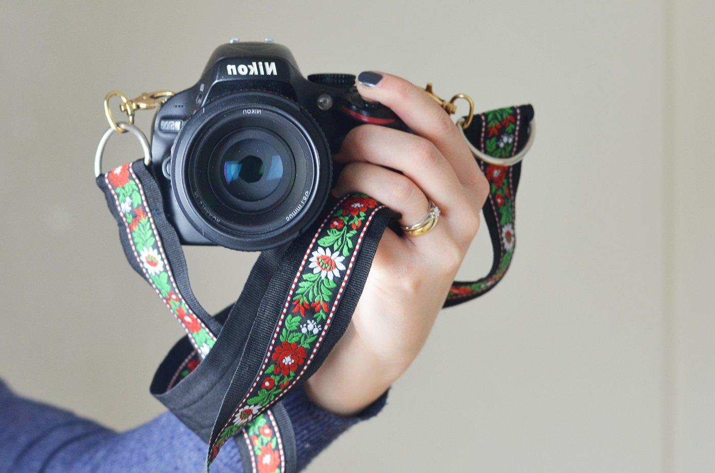 Pasek do aparatu - wzory ludowe