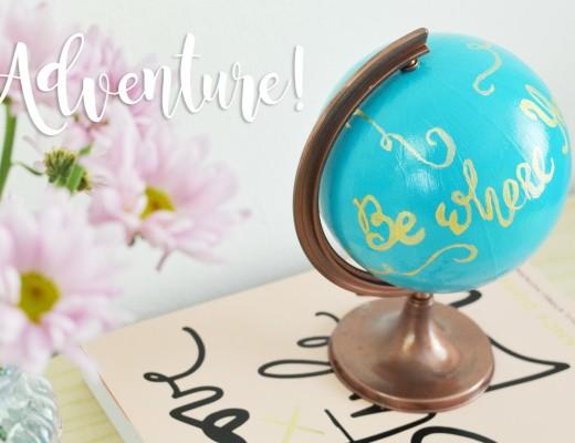 Malowany globus DIY