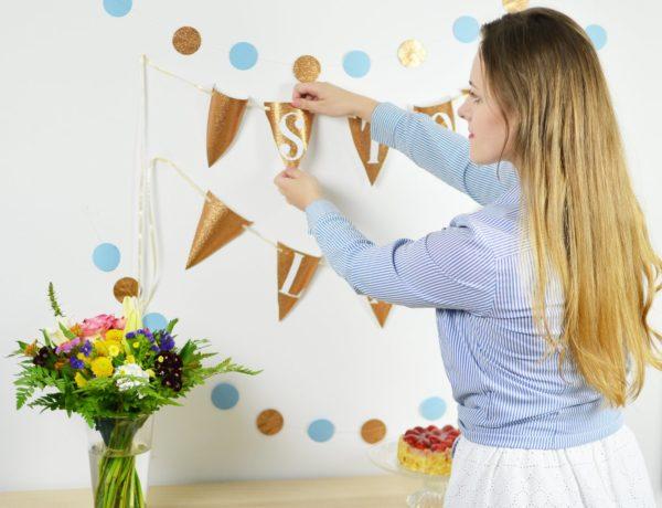 DIY: dekoracje z papieru na przyjęcie urodzinowe