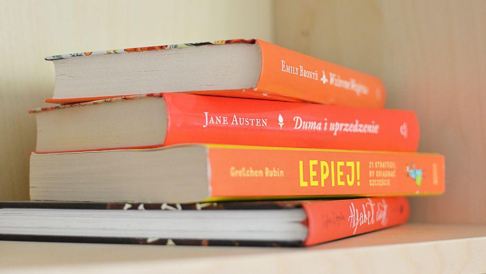 Układanie książek kolorami