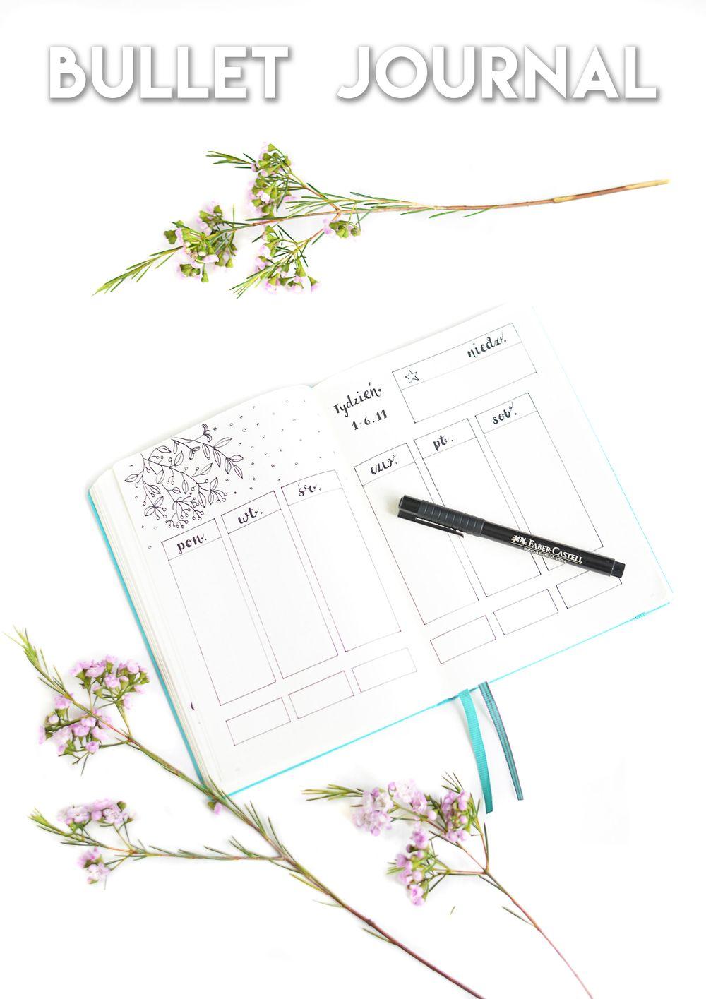Bullet journal - pomysły, inspiracje, rozkładówka