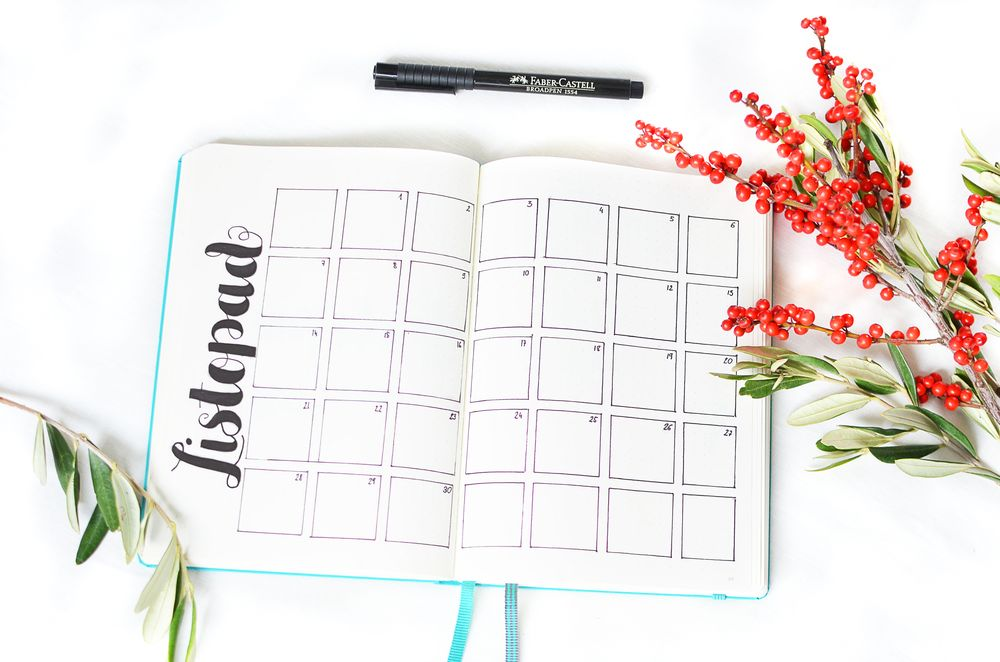 Bullet journal - kalendarz na listopad