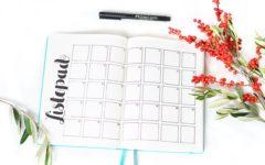 Pomysły na bullet journal - kalendarz