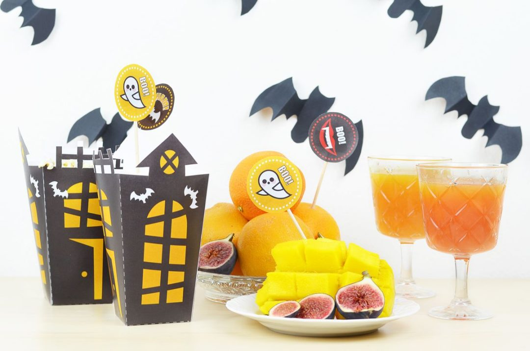 Dekoracje z papieru na halloween