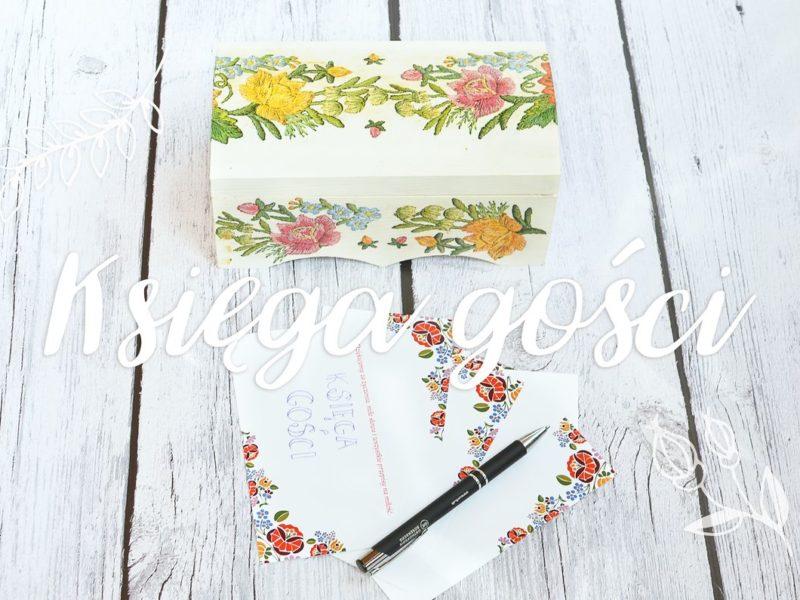 Księga gości weselnych - szkatułka na karty z wpisami