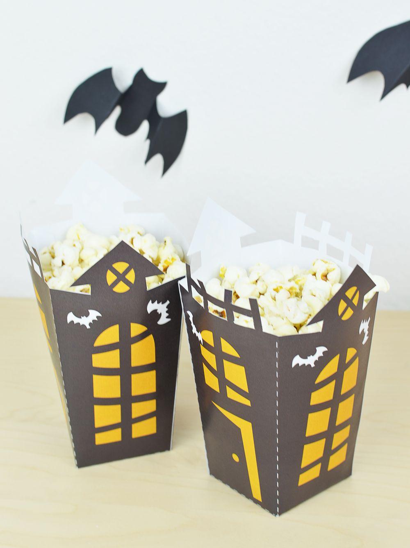 Ozdoby na Halloween - pudełko na popcorn