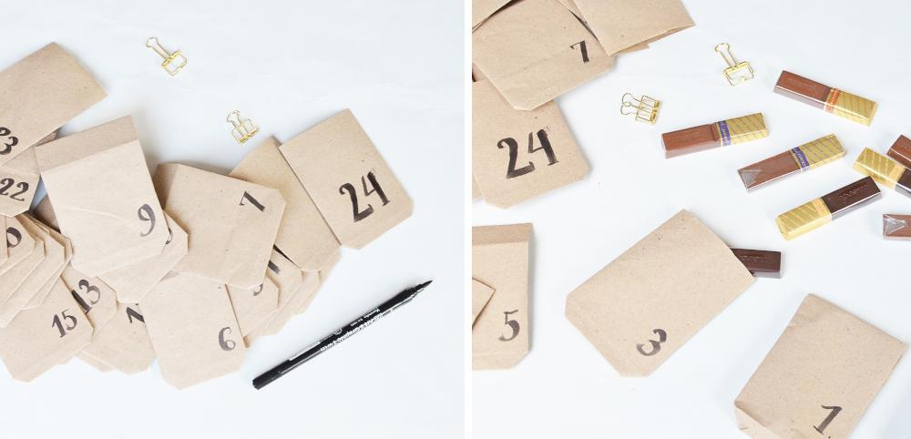 Kalendarz adwentowy - numerowanie