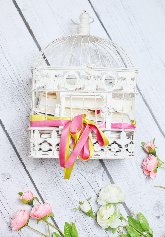 Klatka na koperty i życzenia ślubne
