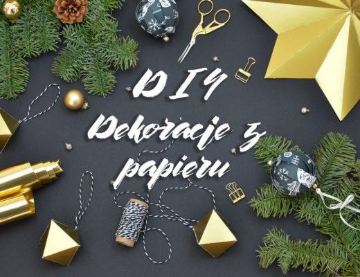 Świąteczne dekoracje z papieru DIY - gwiazda 3D, bombki i geometryczne zawieszki