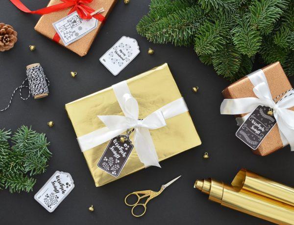 Etykiety na prezenty do wydruku. 5 świątecznych wzorów