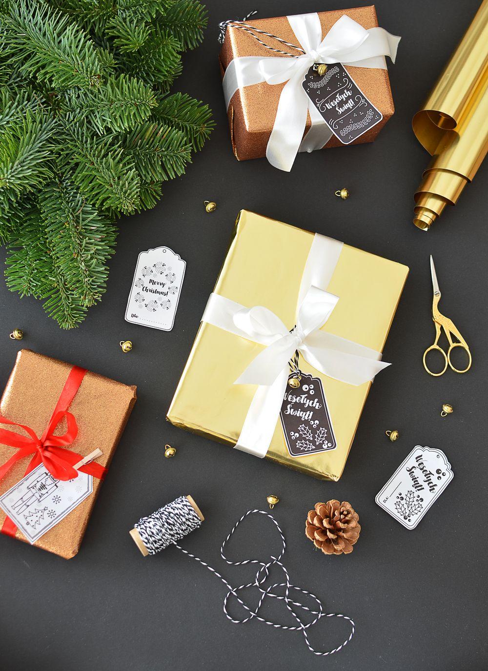 Etykiety na prezenty do wydruku. 5 świątecznych wzorów | Polenka.pl