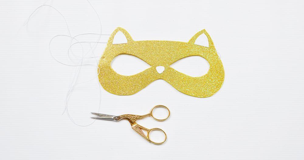 Maska karnawałowa - szablon