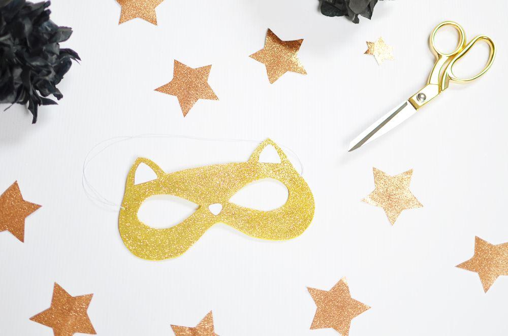 Maska karnawałowa - zrób to sam, szablon do wydruku