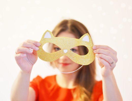 Maska karnawałowa DIY + szablon do pobrania