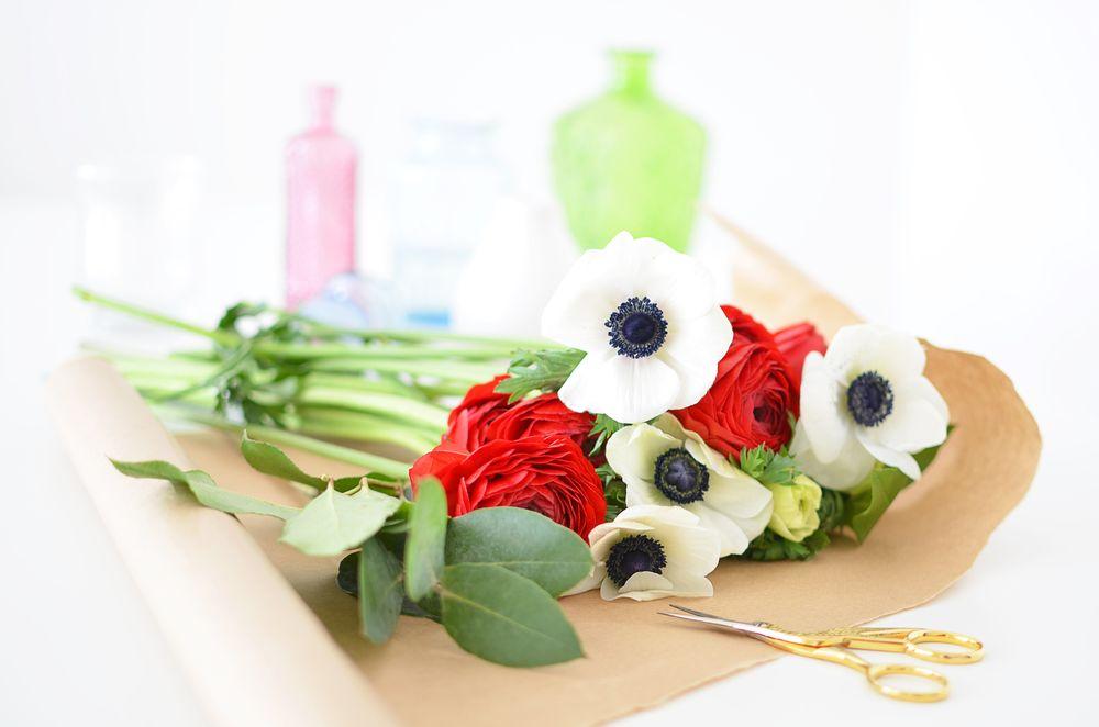Przygotowanie kwiatów - anemony i jaskry