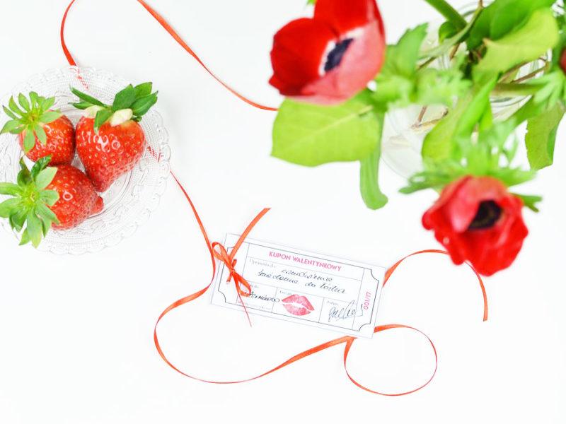 Prezent na Walentynki DIY - kupony miłości do wydrukowania