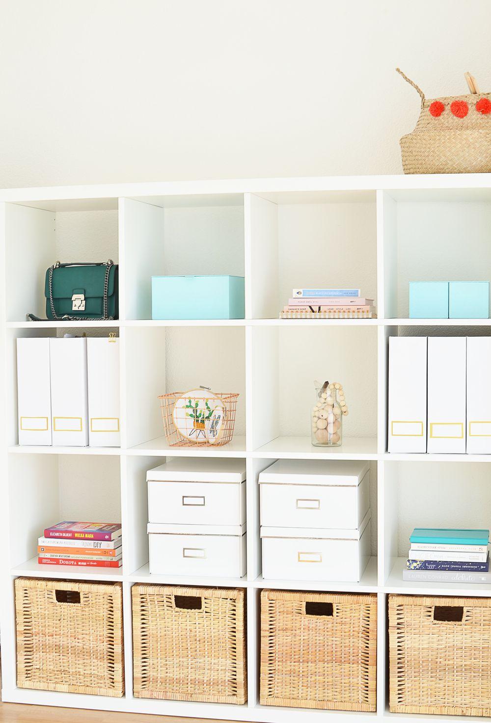 Wnętrza blog - moje domowe biuro, regał Ikea