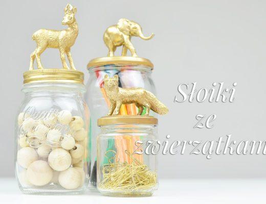 Słoiki ze złotymi zwierzątkami DIY | Polenka.pl