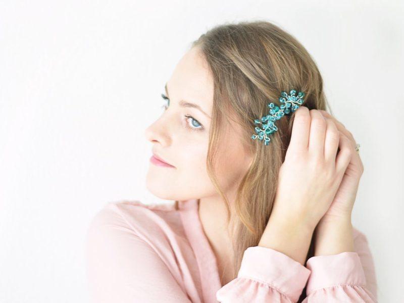 Romantyczna ozdoba do włosów DIY