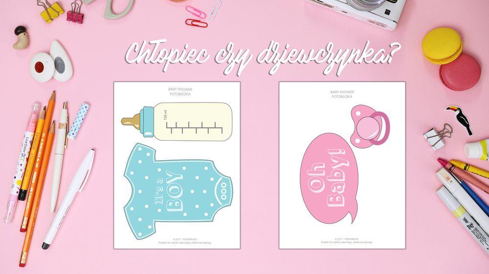 Baby shower - szablony do druku | Polenka.pl