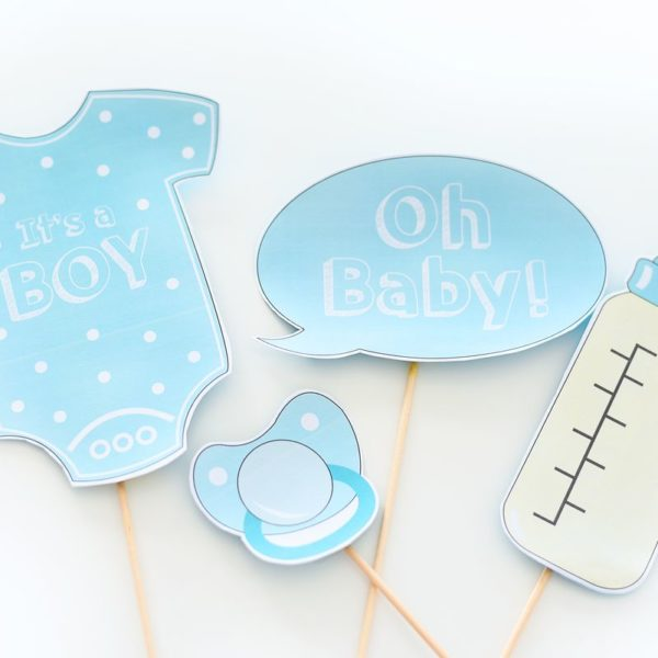Baby shower fotobudka - rekwizyty do druku | Polenka.pl