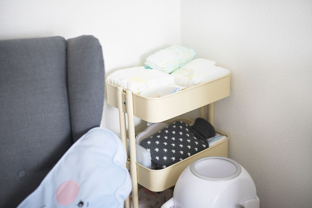 Wózek na kosmetyki dla niemowlaka
