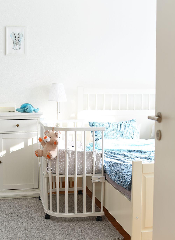 Kącik dla niemowlaka w sypialni