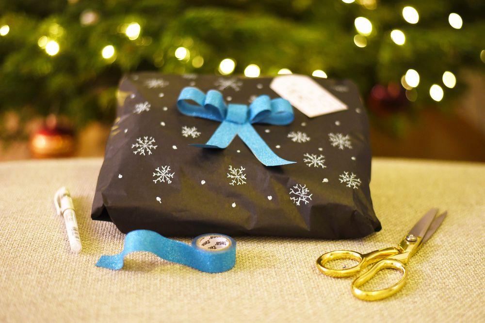 Pakowanie prezentów pod choinkę - washi tape tesa