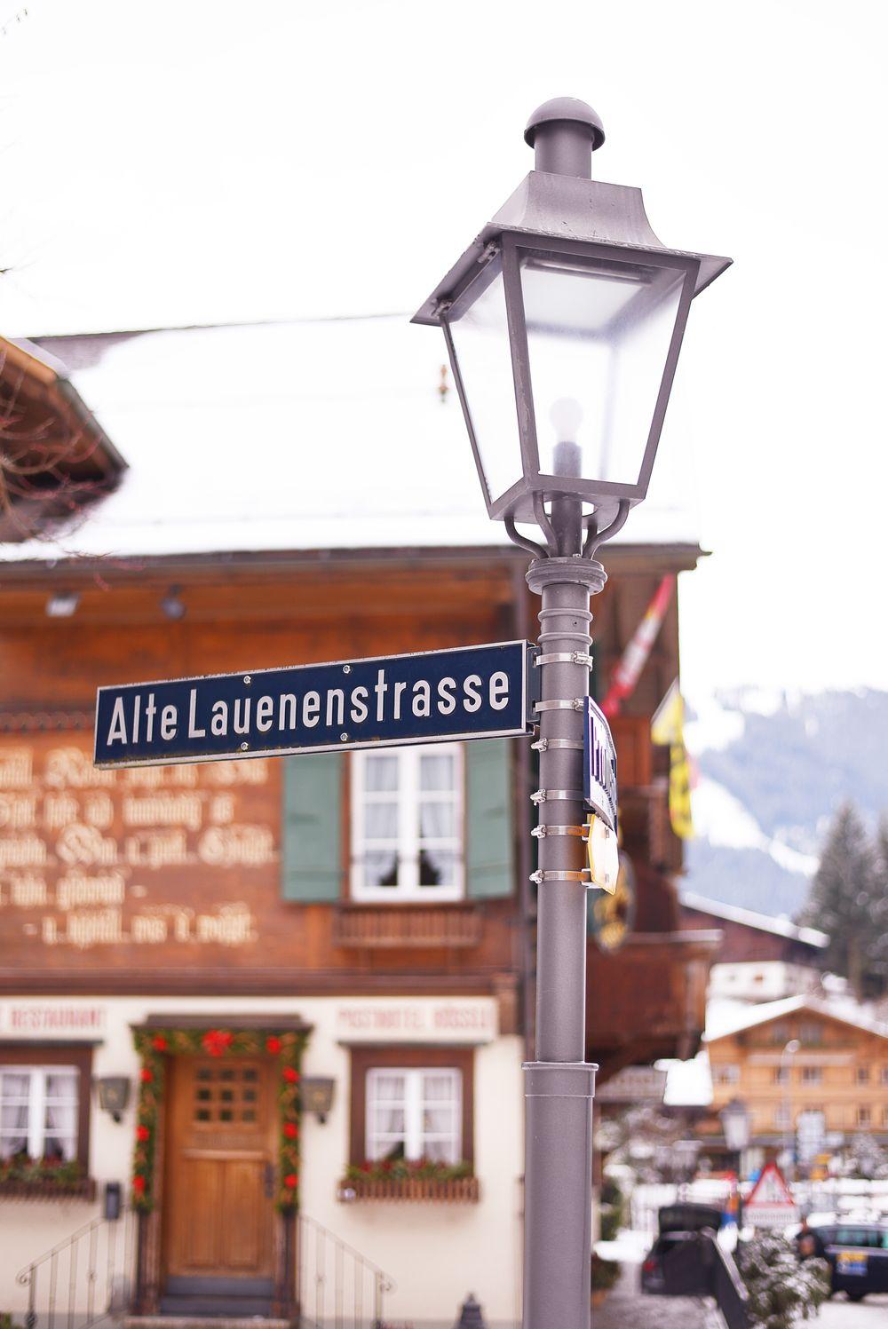 Gstaad - główna promenada