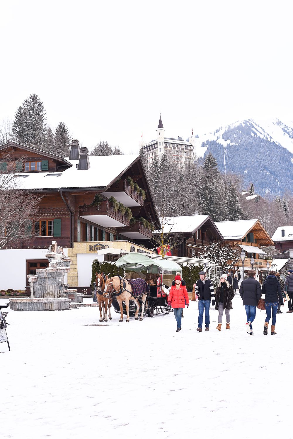Gstaad - deptak, Hotel Palace