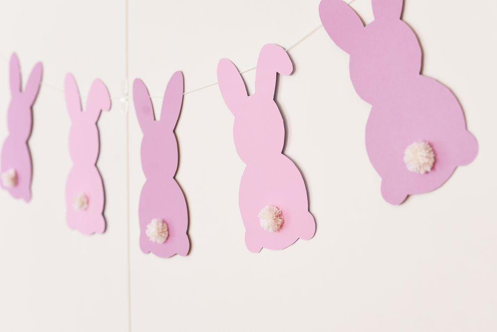 Wielkanocne zajączki z papieru - szablon