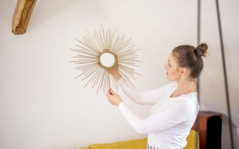 Złote lustro słońce - jak zrobić?